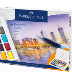 FC169736-Faber Castell Watercolours- 36 Farben