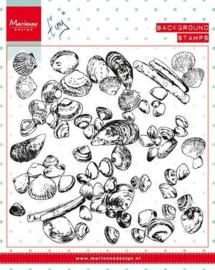CS0970- Tiny´s background Sea Shells Clear stempel