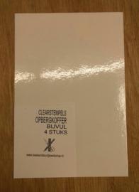395-navulset clearstempels opbergkoffer, inhoud 4 stuks