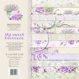 LZP-MSP01 -Set of scrap papers 30x30cm - Lemoncraft -My sweet Provence
