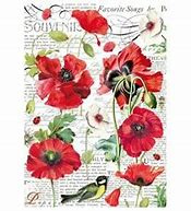 DFSA4306-A4 Rice Paper Packed Botanic poppy