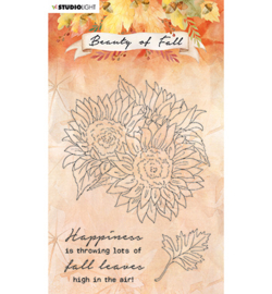 SL-BF-STAMP63 -Studio Light Clear stamp Sunflowers Beauty of Fall nr.63