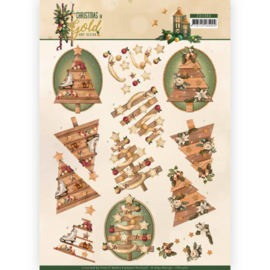 CD11360-3D knipvel-Amy Design-Christmas in Gold - Trees in Gold