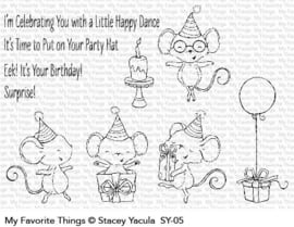 My Favorite Things It's a Mice Time to Celebrate Clear Stamps (SY-05)