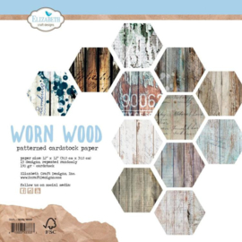 C004- Elizabeth Craft Design - Paperpad 30,5 x 30,5 cm - Worn Wood