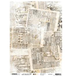 RICEJMA22 - Rice Paper A4, Jenine's Mindful Art 3.0 nr.22