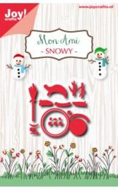 6002/0927 Joy crafts - Snijstencil Mon Ami - Snowy
