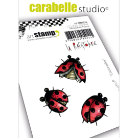 SMI0216-Carabelle cling stamp coccinelles