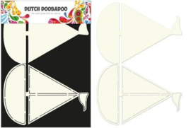 470.713.509-Dutch Doobadoo Dutch Card Art Stencil zeilboot A5