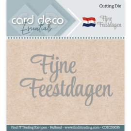 CDECD0035-Card Deco Essentials - Cutting Dies - Fijne Feestdagen