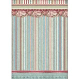 DFSA4399-Stamperia Rice Paper -A4 -Striped Wallpaper