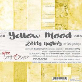 CC-ZS-BC08-Craft O'Clock- Yellow Mood- 20,3x20,3cm