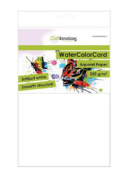 001286/3330-CraftEmotions Watercolor papier - brilliant weiß 10 Bg A5 - 350 gr