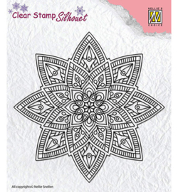 SIL040-Mandala-2-Nellie's Choice-clear stamp