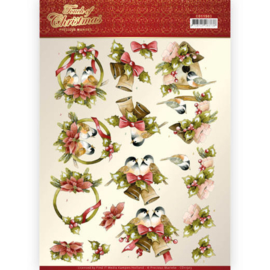 CD11503-3D cutting sheet - Precious Marieke - Touch of Christmas - Birds