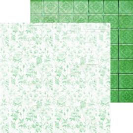 P2525-Kaisercraft paper 30,5x30,5cm Memory lane morning frost