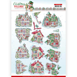 CD11540-3D cutting sheet - Yvonne Creations - Christmas Village - Christmas Houses