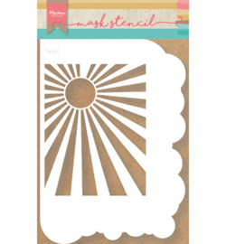 PS8024-Marianne Design stencil mask clouds & sunburst