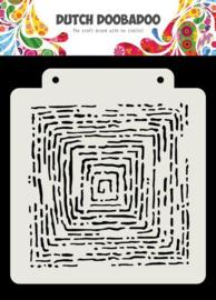 470.715.175-Dutch Doobadoo Dutch Mask Art -Grunge lines- 163x 148 mm