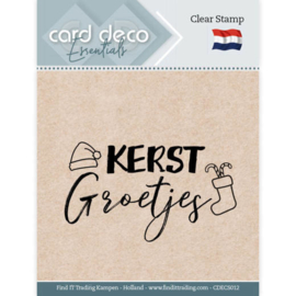 CDECS012-Card Deco Essentials - Clear Stamps - Kerst Groetjes