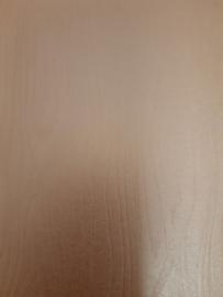 dubbelzijdige papier, voorkant koper met houtnerf, achterkant beige