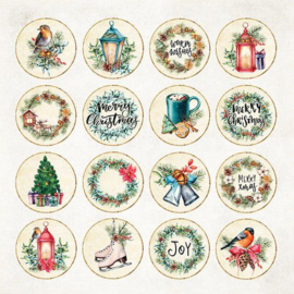 "CP-CV08-Craft&You Christmas Vibes Sheet elements to be cut out- 12""X12"""