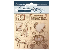 SCB60 - Stamperia Decorative Chips Sleeping Beauty Coatch