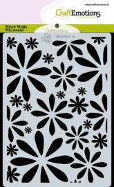 CraftEmotions Mask stencil Bugs & flowers - bloemen A6 Carla Creaties