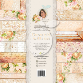LZP-GROW01 -Set of scrapbooking papers -Grow old with me