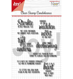 6410/0498-Noor - Condoleance - Txt NL-clear stempel