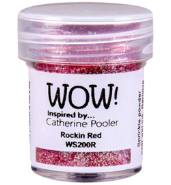 WS200R-Rockin Red-Embossing Glitter-15ml