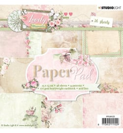 PPLM123-Paper Pad- Lovely Moments nr.123-15x15cm-36 Blätter