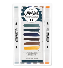 Marker08-Studio Light-Waterbased Dual Tip Markers