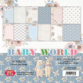 CPB-BW15 -Craft&You Baby World small paper pad 6x6 36 vel