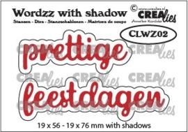 CLWZ02-Wordzz stansen with shadow no. 02, prettige feestdagen