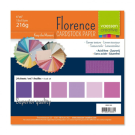 2923-103-Florence • Cardstock multipack 15,2x15,2cm Paars
