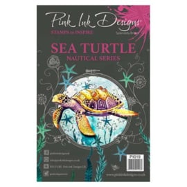 PI019-Creative Expressions • Pink ink A5 clear stamp sea turtle