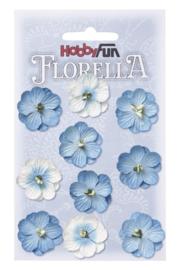 3866 044-Hobbyfun Florella Blumen- ca. 2,5 cm-Blau