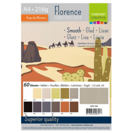 2927-306-Florence • Cardstock smooth A4 12x5 Earth tones (60 vel)