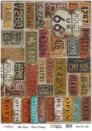 111325/0325-Cadence rijstpapier kentekenplaten USA Model No: 325 30x42cm