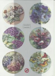 BOWOC 150-2236-UV bloemen met vlinders utdrukvel
