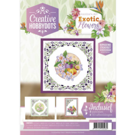 CH10016 JEANINE'S ART EXOTIC FLOWERS CREATIVE HOBBYDOTS