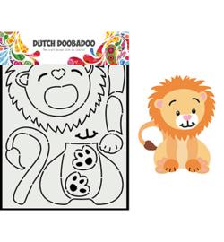 470.713.881-Dutch Doobadoo Dutch Card Art Built up Leeuw