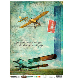 RICEJL13 - Just Lou - Rice Paper - Aviation Collection - nr.13