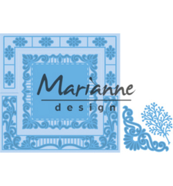 LR0553 - Marianne Design - Anja's lacy folding die: square
