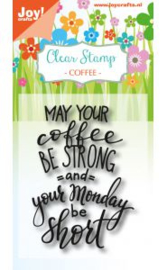 6410/0469-Clearstempel - Coffee txt - Monday
