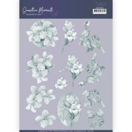 CD11519-3D Cutting Sheet - Jeanine's Art - Sensitive Moments - Grey Freesias
