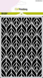 185070/1276 - CraftEmotions Mask stencil bladeren Art Deco