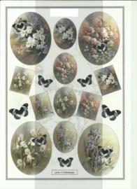 BOJE 100-LE0017-KN Bloemen met vlinders knipvel
