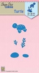 """SDB043-Shape Dies Blue """"turtle"""""""